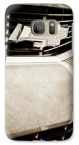 Galaxy Case featuring the photograph 2011 Chevrolet Camaro Grille Emblem -0321s by Jill Reger