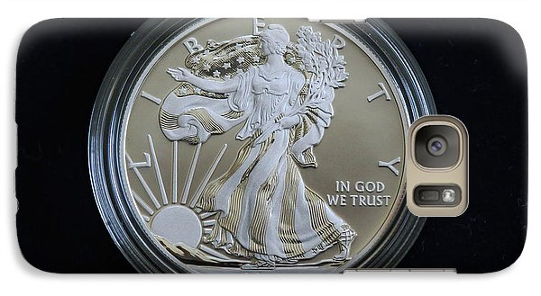Galaxy Case featuring the photograph 2013 Enhanced Uncirculated Silver Eagle Dollar Coin by Randy Steele