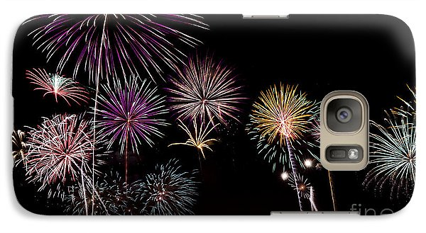Galaxy Case featuring the photograph 2013 Fireworks Over Alton by Andrea Silies