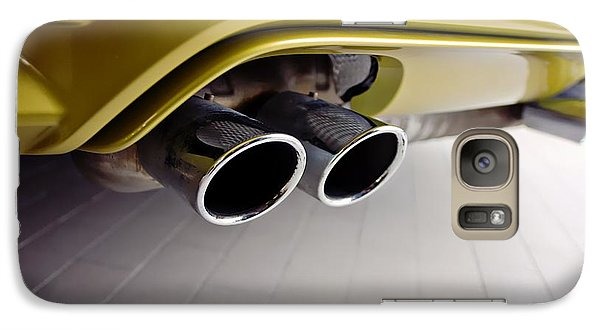 Galaxy Case featuring the photograph 2015 Bmw M4 Exhaust by Aaron Berg
