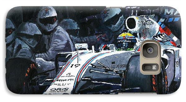 2015 Williams Fw37 F1 Pit Stop Spain Gp Massa  Galaxy S7 Case by Yuriy Shevchuk