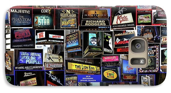 Galaxy Case featuring the photograph 2016 Broadway Spring Collage by Steven Spak