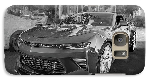 Galaxy Case featuring the photograph 2017 Chevrolet Camaro Ss2 Bw by Rich Franco