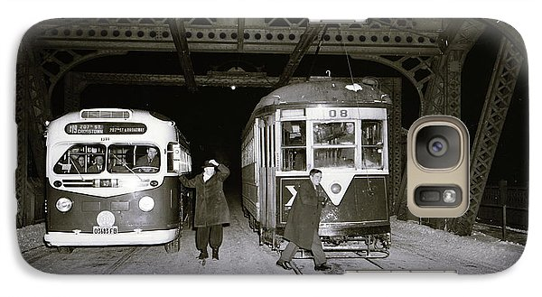 Galaxy Case featuring the photograph 207th Street Crosstown Trolley by Cole Thompson