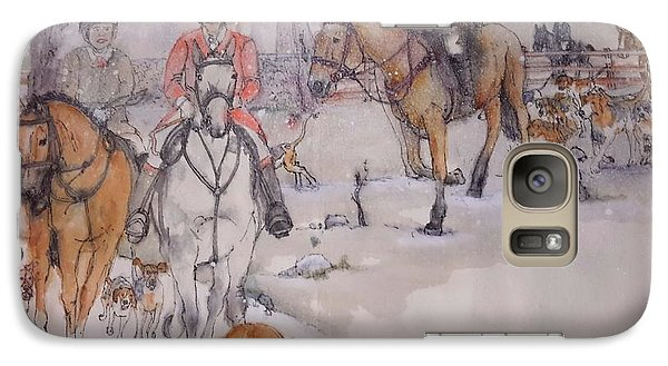 Galaxy Case featuring the painting Talley Ho Album  by Debbi Saccomanno Chan