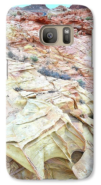 Galaxy Case featuring the photograph Colorful Sandstone In Valley Of Fire by Ray Mathis