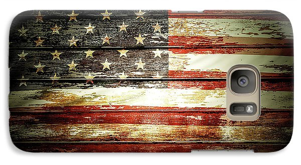 Galaxy Case featuring the photograph American Flag by Les Cunliffe