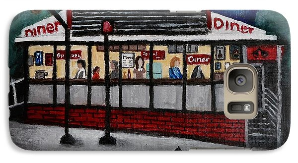 Galaxy Case featuring the painting 24 Hour Diner by Victoria Lakes