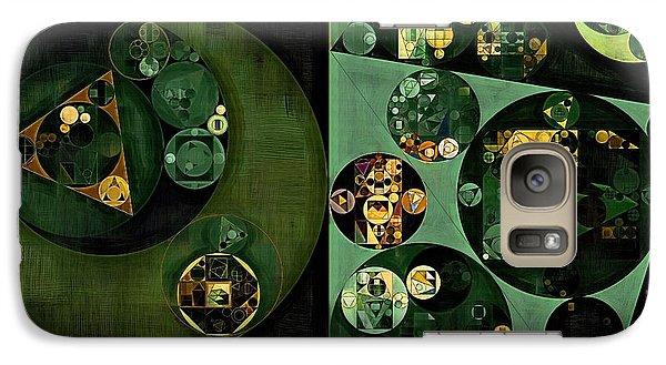 Galaxy Case featuring the digital art Abstract Painting - Smoky Black by Vitaliy Gladkiy