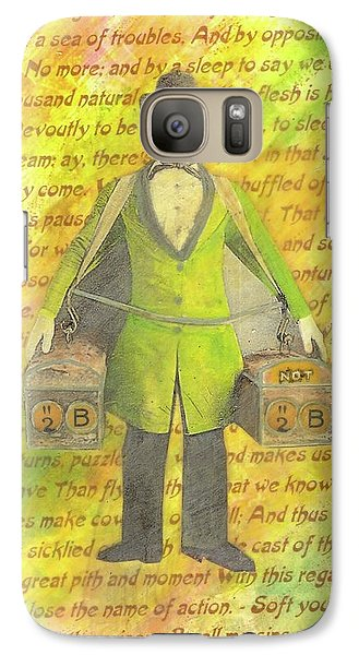 Galaxy Case featuring the mixed media 2b Or Not 2b by Desiree Paquette