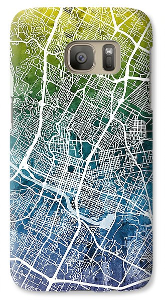Austin Galaxy S7 Case - Austin Texas City Map by Michael Tompsett