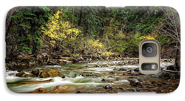 Galaxy Case featuring the photograph Autumn Stream by Andrew Soundarajan