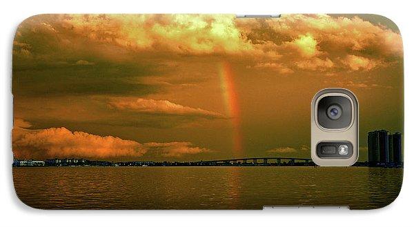Galaxy Case featuring the photograph 3- Blue Heron Bridge by Rainbows