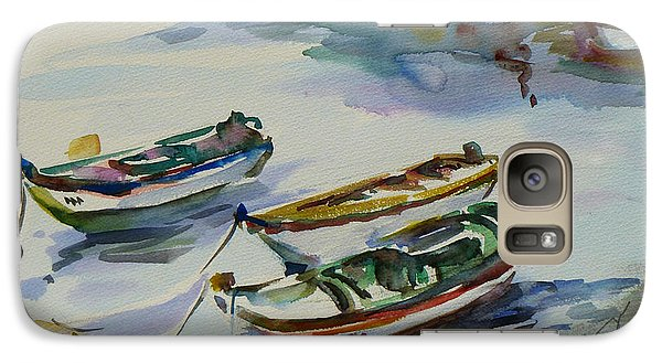 Galaxy Case featuring the painting 3 Boats I by Xueling Zou