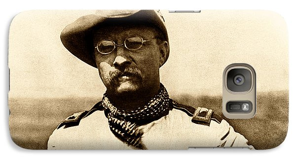 Galaxy Case featuring the photograph Colonel Theodore Roosevelt by War Is Hell Store