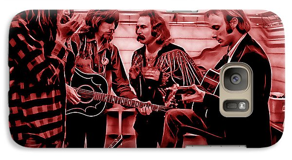 Crosby Stills Nash And Young Galaxy Case by Marvin Blaine