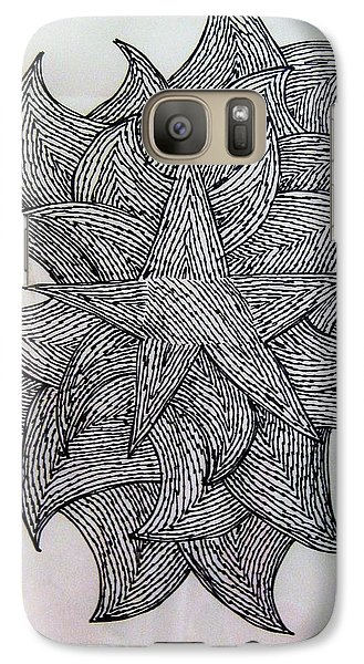 Galaxy Case featuring the drawing 3 D Sketch by Barbara Yearty