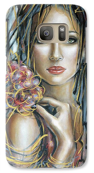 Galaxy Case featuring the painting Drama Queen 301109 by Selena Boron