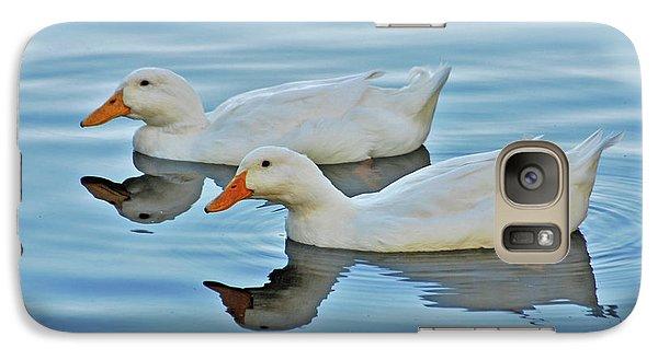 Galaxy Case featuring the photograph 3- Ducks by Joseph Keane