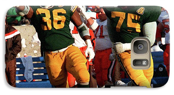 Galaxy Case featuring the photograph Edmonton Eskimos Football - Stewart Hill - 1986 by Terry Elniski