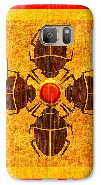 Galaxy Case featuring the digital art Egyptian Scarab Beetle by John Wills