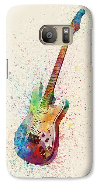 Electric Guitar Abstract Watercolor Galaxy S7 Case