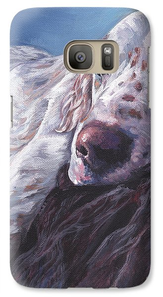 Galaxy Case featuring the painting English Setter by Lee Ann Shepard