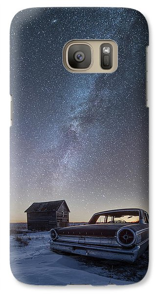 Galaxy Case featuring the photograph 3 Galaxies  by Aaron J Groen