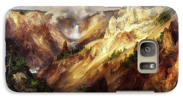 Galaxy Case featuring the painting Grand Canyon Of The Yellowstone by Thomas Moran