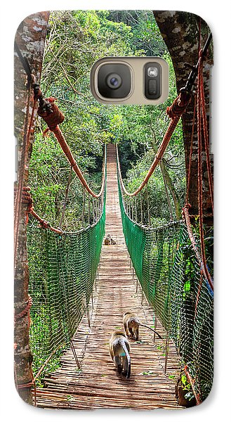 Galaxy Case featuring the photograph Hanging Bridge by Alexey Stiop