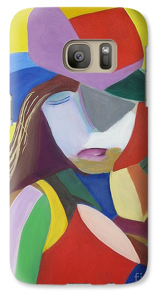 Galaxy Case featuring the painting Hat by Patricia Cleasby