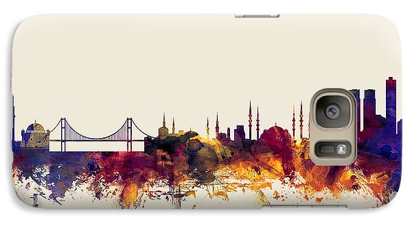 Turkey Galaxy S7 Case - Istanbul Turkey Skyline by Michael Tompsett
