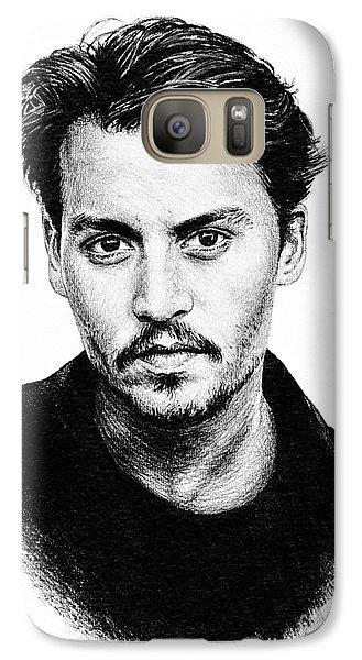 Johnny Depp Galaxy Case by Andrew Read