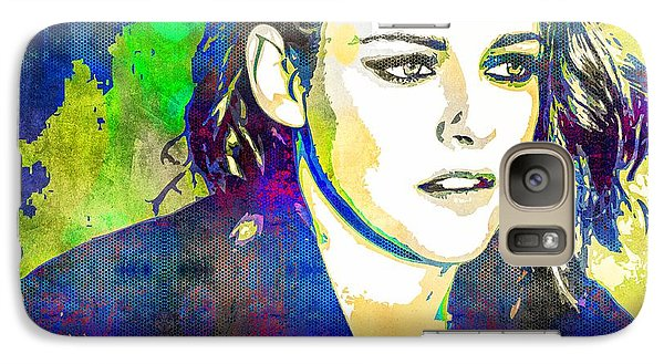 Galaxy Case featuring the mixed media Kristen Stewart by Svelby Art