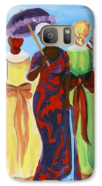 Galaxy Case featuring the painting 3 Ladies by Diane Britton Dunham