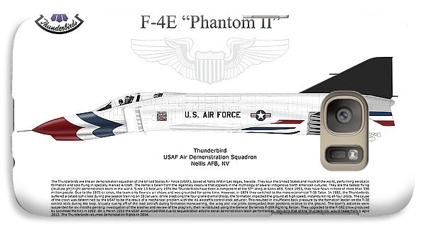 Galaxy Case featuring the digital art Mcdonnell Douglas F-4e Phantom II Thunderbird by Arthur Eggers