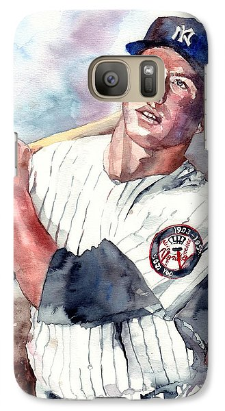 Mickey Mantle Galaxy S7 Case - Mickey Mantle Portrait by Suzann's Art