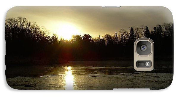 Galaxy Case featuring the photograph Mississippi River Sunrise Reflection by Kent Lorentzen