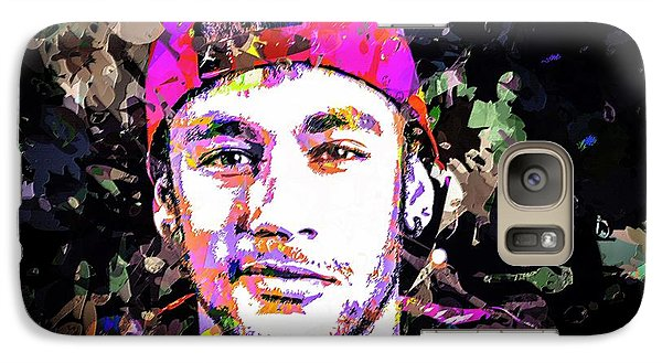 Galaxy Case featuring the mixed media Neymar by Svelby Art