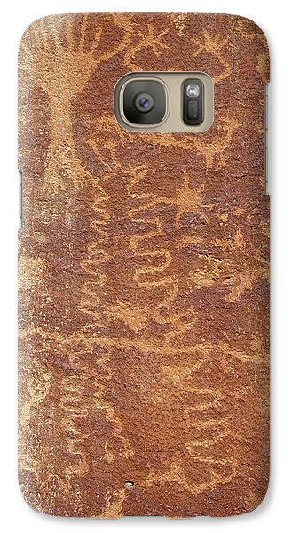 Galaxy Case featuring the photograph Petroglyph - Fremont Indian by Breck Bartholomew