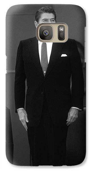 Galaxy Case featuring the photograph President Ronald Reagan by War Is Hell Store