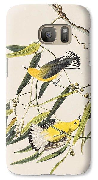 Warbler Galaxy S7 Case - Prothonotary Warbler by John James Audubon