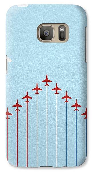 Hawk Galaxy S7 Case - Raf Red Arrows In Formation by Samuel Whitton