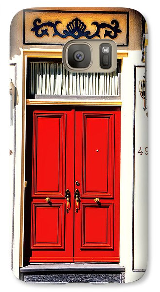 Galaxy Case featuring the photograph Red Door by Rick Bragan