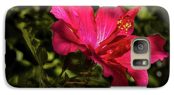 Galaxy Case featuring the photograph Red Hibiscus by Robert Bales