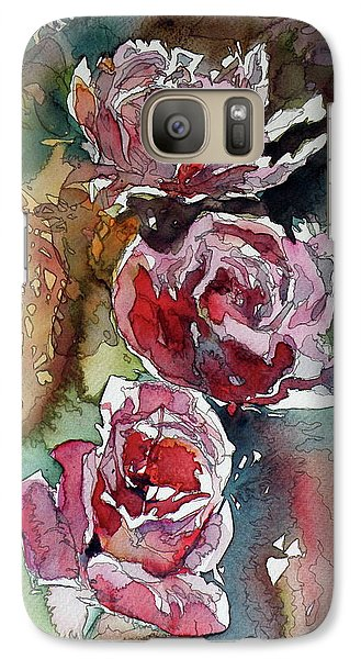 Galaxy Case featuring the painting Roses by Kovacs Anna Brigitta