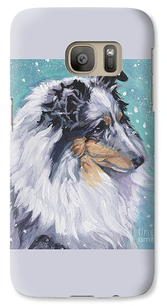 Galaxy Case featuring the painting Shetland Sheepdog by Lee Ann Shepard