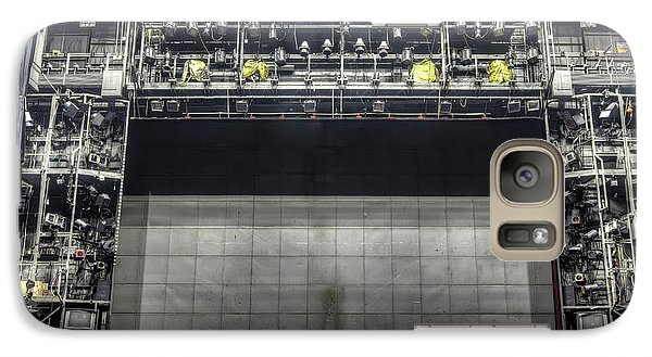 Galaxy Case featuring the photograph Stage In The Abandoned Theatre by Michal Boubin