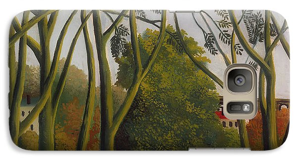 Galaxy Case featuring the painting The Banks Of The Bievre Near Bicetre by Henri Rousseau