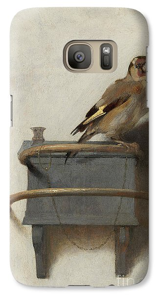 The Goldfinch Galaxy Case by Carel Fabritius